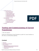 Testing and Commissioning of Current Transformer _ EEP
