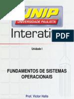 Slides Fundamentos de Sistemas Operacionais Unidade I