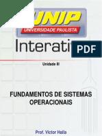 Slides Fundamentos de Sistemas Operacionais Unidade III