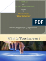 Seminar PPT for touchscreen technology