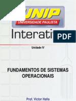 Slides Fundamentos de Sistemas Operacionais Unidade IV
