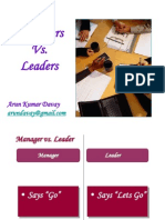 51588441 Managers vs Leaders 45 Differences
