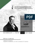 Humboldt y El Orientalismo en America