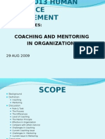 Coaching in human resource
