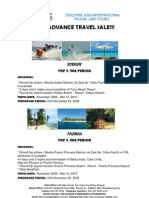 2010 Advance Travel Sale!!!
