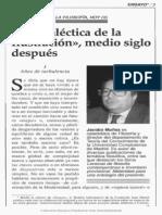 La Dialéctica de La Ilustración Medio Siglo Después (Fund March)