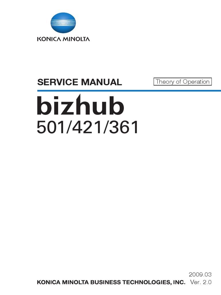 Konica-Minolta Bizhub 361, BizHub 421, Bizhub 501 Theory of Operation Service  Manual | Ac Power Plugs And Sockets | Electrical Connector