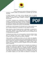 Resposta Partido Ecologista Os Verdes (Cdu)  ao questionário realizado pelo SOS RACISMO por ocasião das eleições europeias de 2014