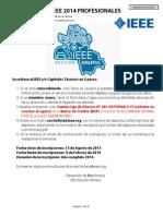 Formulario de Inscripcion Profesionales 2014