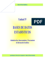 Base de datos estadísticos