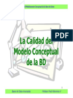 Calidad del Modelamiento Conceptual de la Base de Datos