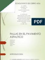 Fallas en Los Pavimentos Asfalticos (Presentacion)