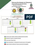 Calendario Cuatrimestral Mayo - Agosto 2014