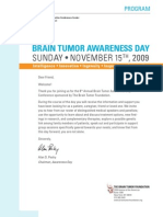 Brain Tumor Awareness Day Program - November 15, 2009