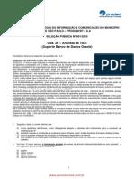 Analista de TIC I (Suporte Banco de Dados Oracle)