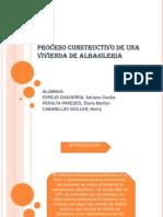 Proceso Constructivo de Una Vivienda de Albañileria