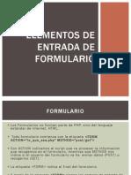 Elementos de Entrada de Formulario