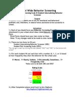 school wide behavior screening instructions