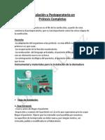 Instalación y Postoperatorio en Protesis Total 2-12