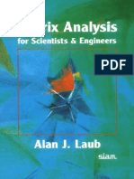 Matrix Analysis for Scientist