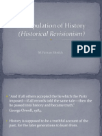 Manipulation of History