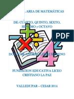 PLAN DEL AREA DE MATEMÁTICAS DE 4° - 8° JAGM renovado