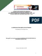 Ana Paula Kurek (2007) La Suficiencia Descriptiva de Las Patentes