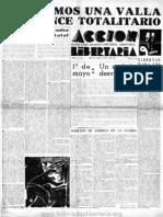 Acción Libertaria, Nº 36. Mayo 1940