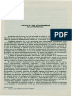 Funcion Actual de La Filosofia en Latinoamerica (Arturo Ardao) (1)