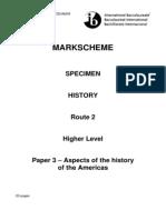 2008 Specimen Paper 3 - Markscheme