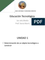 Educación Tecnológica 1ro Medio 2014