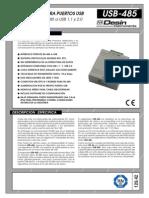Conversor USB a RS 485