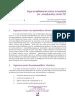 Reflexiones Realidad Del Uso Eduacativo de Las TIC-1