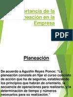 Importancia de La Planeación en La Empresa