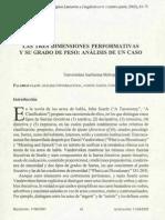 Mandoki, K - Las Tres Dimensiones Performativas y Su Grado de Peso (2002)