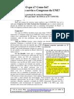 """Prestação de contas dos delegados  da chapa """"UNE é pra lutar"""" da UFSCar ao 51° CONUNE"""