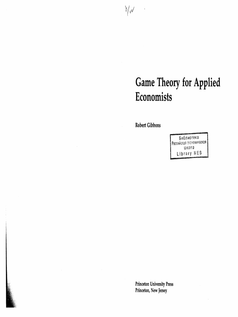 game theory for applied economists rh scribd com