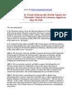 Maronite Zionist Treaty of 1946