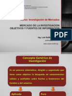 Mercado de La Investigacion Objetivos y Fuentes de Informacion
