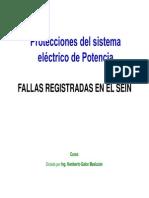 Fallas Registradas en El SEIN