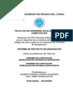 Aplicación de PSP - Proyecto de Tesis