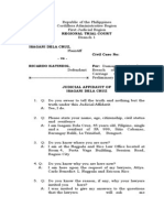 Judicial Affidavit of Isagani Dela Cruz