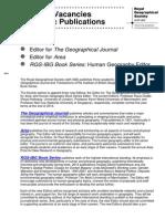 Editorial Vacancies 2014