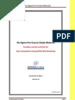 Benchmark Six Sigma WB Pre-course Material v2