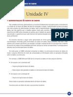 Administração de Banco de Dados Unidade IV