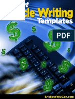 Instant Article Writing Templates