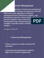 Concepts of Classroom Management