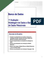 FMN-Banco de Dados - Partes 1 a 5-Modelagem de Dados