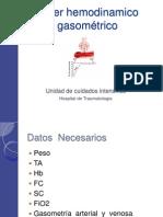 Taller Hemodinamico Gasometrico