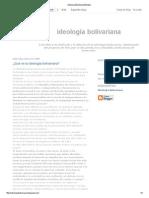 Ideología Bolivariana